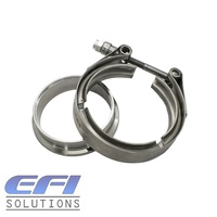 "V-Band 3 Inch Male Female Flange With Clamp ""Stainless Steel"" Suits GT30 Garrett Turbo's Turbine Housing"