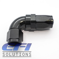 90º Degree Full Flow Hose End AN8 (Black)