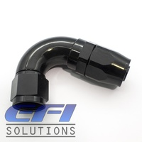 120º Degree Full Flow Hose End AN10  (Black)