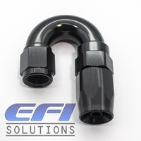 180º Degree Hose End  AN4 (Black)