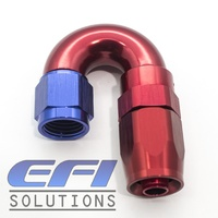 180º Degree Full Flow Hose End AN6