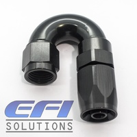 180º Degree Full Flow Hose End AN10 (Black)