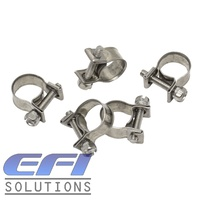 "Mini Hose Clamps ""7-9mm"" Stainless Steel"