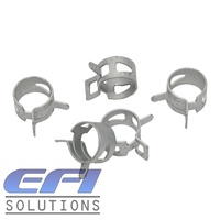 "Spring Hose Clamps ""12mm"" (Suits 6mm ID Silicone Vacuum Hose)"