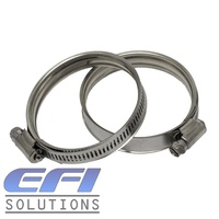 "Constant Tension Hose Clamps ""100-120mm"" (Suits 89, 95, & 102mm ID Silicone Hose)"
