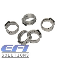"Single Ear Hose Clamps ""14.1-16.6mm"" Stainless Steel"