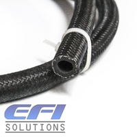 450 Series Black Nylon Over Stainless Steel Braided Hose AN6 Per Metre