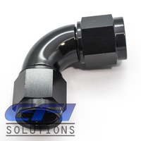 90º Degree Full Flow Female Coupler AN6 (Black)