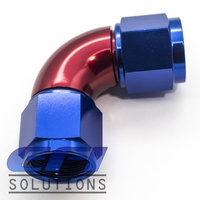 90º Degree Full Flow Female Coupler AN8