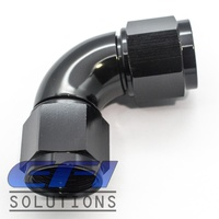 90º Degree Full Flow Female Coupler AN8 (Black)