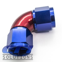 90º Degree Full Flow Female Coupler AN12