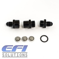 Mini Billet Inline Filter AN4 (Black)