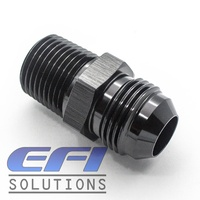 Straight 1/4 NPT To Male AN6 (Black)