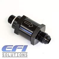 Fuel Pump Check Valve M12X1.5mm To 6AN (Black)